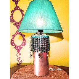 Table Lamp - PVC silver pipe design -