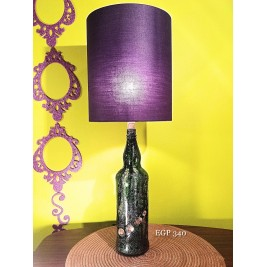 Table Lamp - Purple design - round lampshade