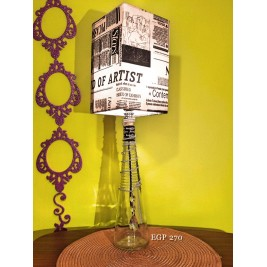 Table Lamp - Black & white design- handmade