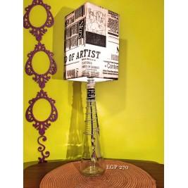Table Lamp - Black & white design- handmade