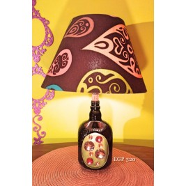 Table Lamp -Old Parr bottle design - Crystals