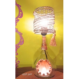 Table Lamp - swing bottle - metal lampshade