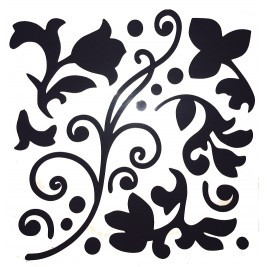 3D Decorative Rubber Wall Sticker - black design 1