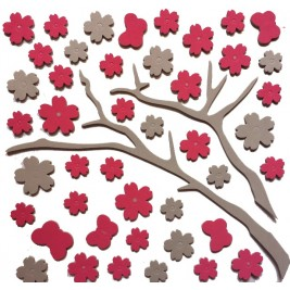 3D Decorative Rubber Wall Sticker - tree design
