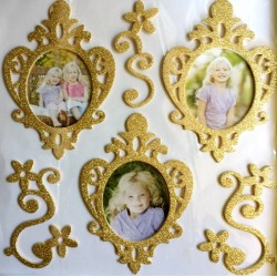 3D Photo Frame Sticker - gold