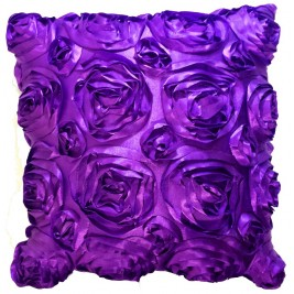 Modern cushion - 3D flowers style