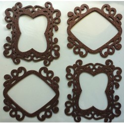 3D Photo Frame Sticker - brown