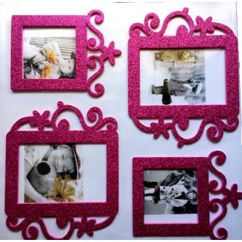 3D Photo Frame Sticker - fuchsia