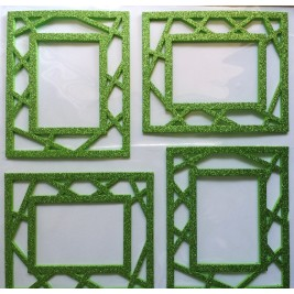 3D Photo Frame Sticker - green