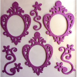 3D Photo Frame Sticker - purple