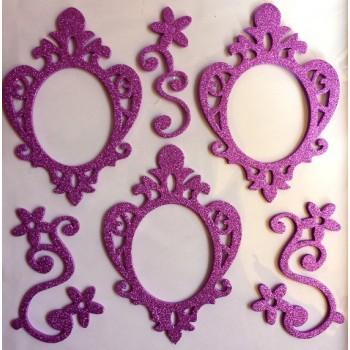 3D Photo Frame Sticker - purple