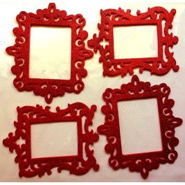 3D Photo Frame Sticker - red