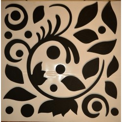 3D Decorative Rubber Wall Sticker - black leaves
