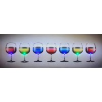 LED Canvas Wine Glasses Wall Painting