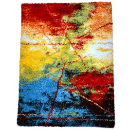 Abstract colorful Carpet - shaggy long & thick pile