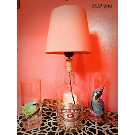 Table Lamp - Chivaz Bottle - Orange Lampshade
