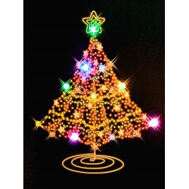 LED Canvas Christmas Tree Wall Painting