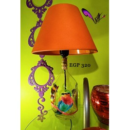 Table Lamp - Colorful bird design 4 - handmade