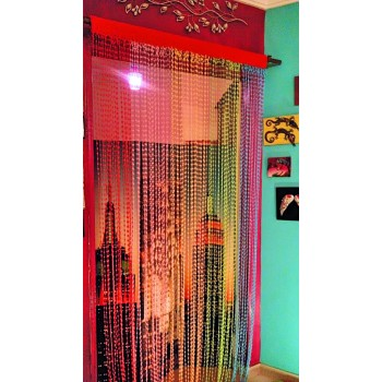 Crochet Colorful handmade curtain - Rainbow Design