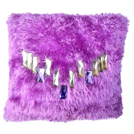 VAZA Handmade lavender Cushion - Crystal Design
