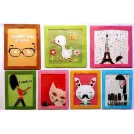 Embellishment Art Wall Sticker - 7 Frames - Duck Design