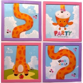 Embellishment Art Wall Sticker - giraffe design