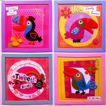 Embellishment Art Wall Sticker -parrots design