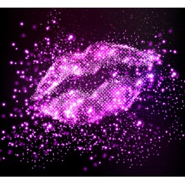 LED Canvas Big Sexy Lips Wall Painting