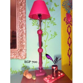 Floor Lamp - Fuchsia in purple Glass design - handmade