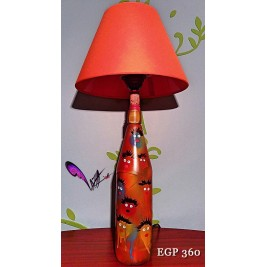Table Lamp - Abstract cool faces design - handmade