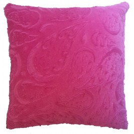 Soft colorful modern cushion - fuchsia 1