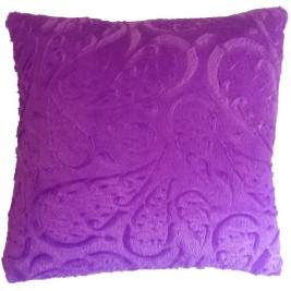 Soft colorful modern cushion - purple