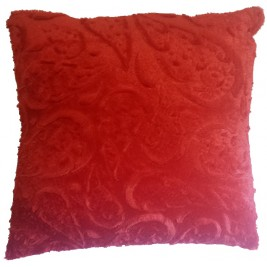 Soft colorful modern cushion - red