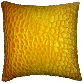 Soft colorful modern cushion - yellow