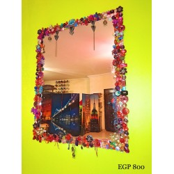 Handmade Decorative Mirror - Floral frame