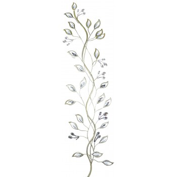 Handmade Metal Art Silver Tree Branches With Crystal