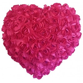 Heart Shaped Cushion - Fuchsia