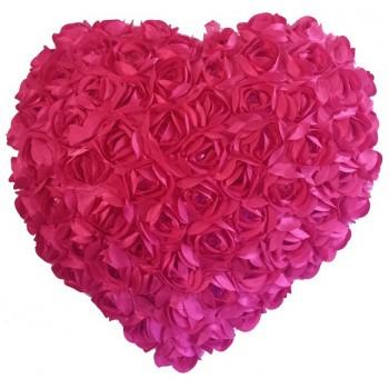 Heart Shaped Cushion - Fuchsia