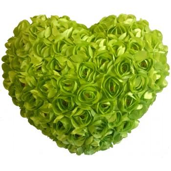 Heart Shaped Cushion - green
