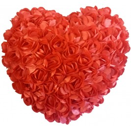 Heart Shaped Cushion - peach