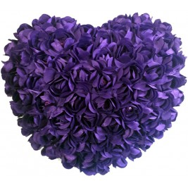 Heart Shaped Cushion - purple