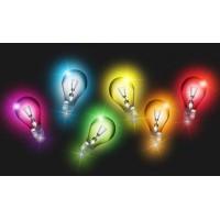 LED Canvas Light Bulbs Wall Painting