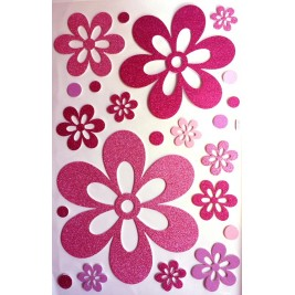 Large DIY 3D Glitter Sticker -  Flowers