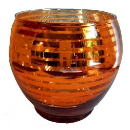 Large Shiny Mercury Glass Candle Holder | Hot & Vivid!