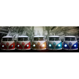 LED Canvas VW Bus Wall Painting