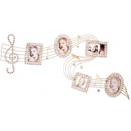 Handmade Metal Art -Music Note with Photo Frames