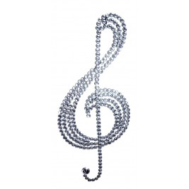 Handmade Metal Art - Music Key Metal Figure with High  Quality Crystals