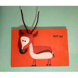 Pebbles & drift wood artwork - deer design