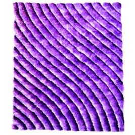 Purple waves carpet - shaggy long pile