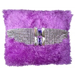 Handmade Royal crystals Cushion | Shaggy Short Pile